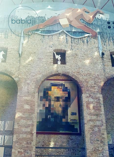 portrait en pixels de Lincoln peint par Dali