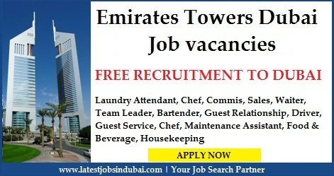 Job vacancies in Emirates Towers Hotel Dubai