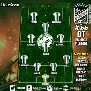 Alineación de Oriente Petrolero para enfrentar a Wilstermann - Fecha 20 Torneo Apertura 2017 - DaleOoo Comunidad Digital Club Oriente Petrolero Oficial