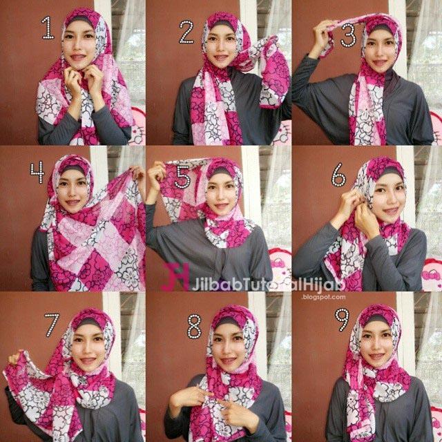 Style hijab ini sanggup dipakai untuk banyak sekali acara sehari Tutorial Cara Memakai Hijab Warna-Warni