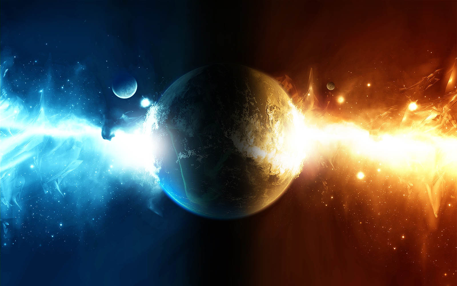 Wallpapers: Fire In Space Wallpapers