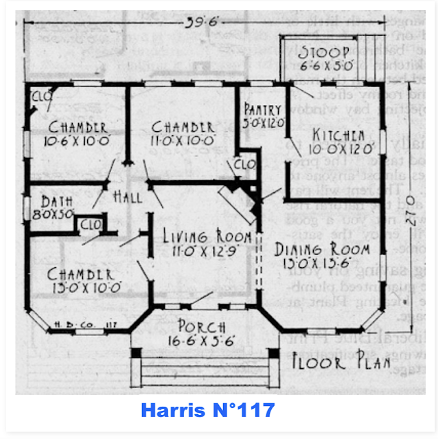 floor plan Harris Brothers Model No 117