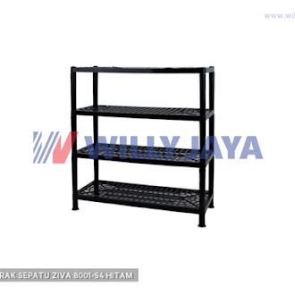 HOMMY - RAK SEPATU ZIVA 8001-S4 HITAM