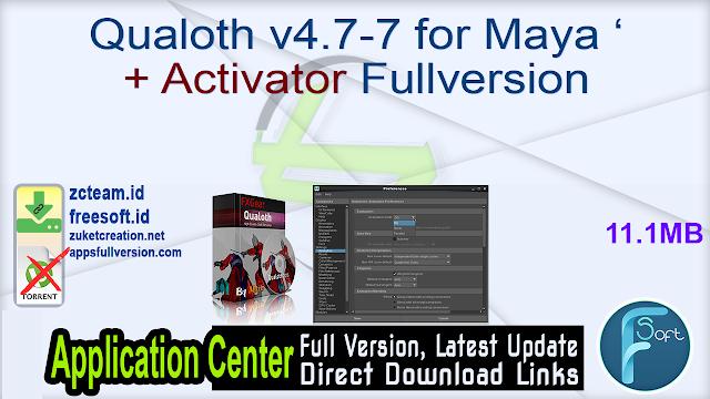 Qualoth v4.7-7 for Maya + Activator Fullversion