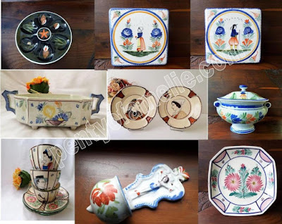 Vintage Quimper Pottery History, Marks, and Wares Collection direct from Brittany France