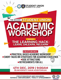 Unilorin S.U Academic Workshop Tagged The Learning Hack: Learn, Unlearn, Relearn (Identifying Personal Learning Styles For Improved Academic Performance)