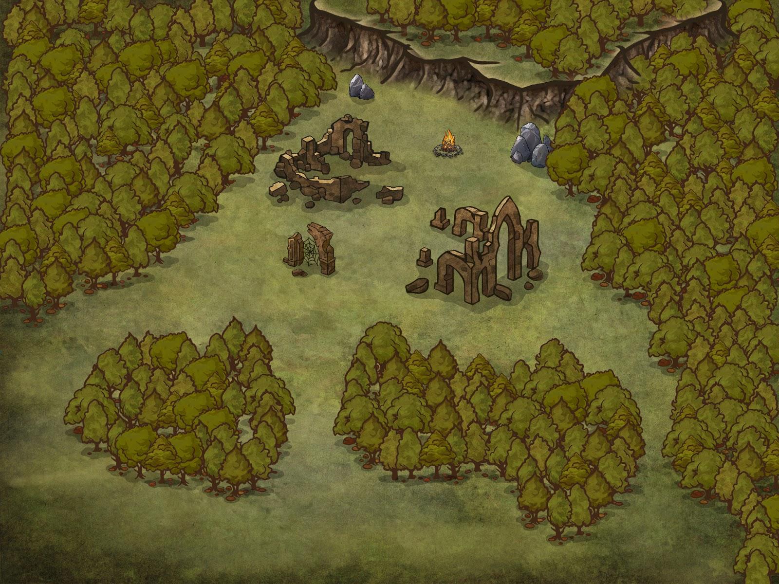 Aventura D&D 5 Edición - Al Quinto Tañido - Interior del Bosque