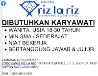 Bursa Kerja di Toko Mas Riz La Riz Surabaya Januari 2021