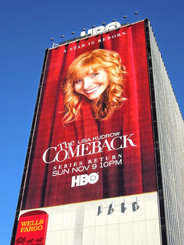 Comeback series return giant HBO billboard