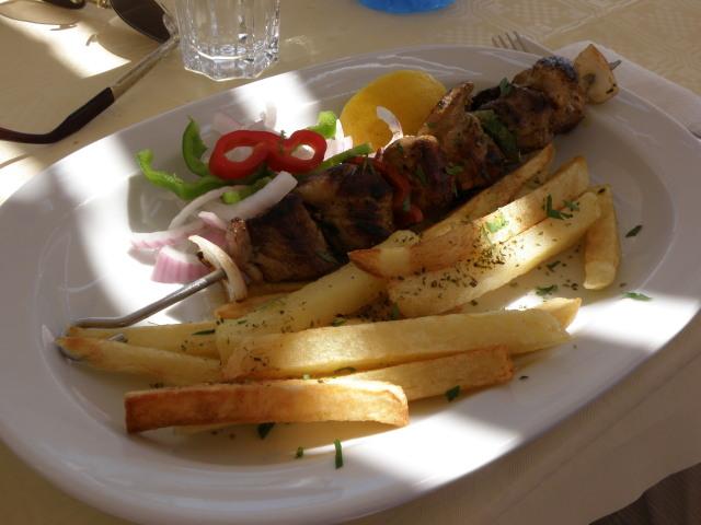 Souvlaki auf Santorin