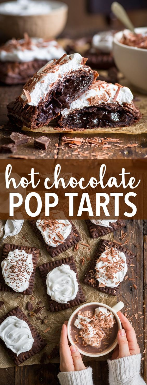 Hot Chocolate Pop Tarts (Gluten Free) #dessert #chocolate