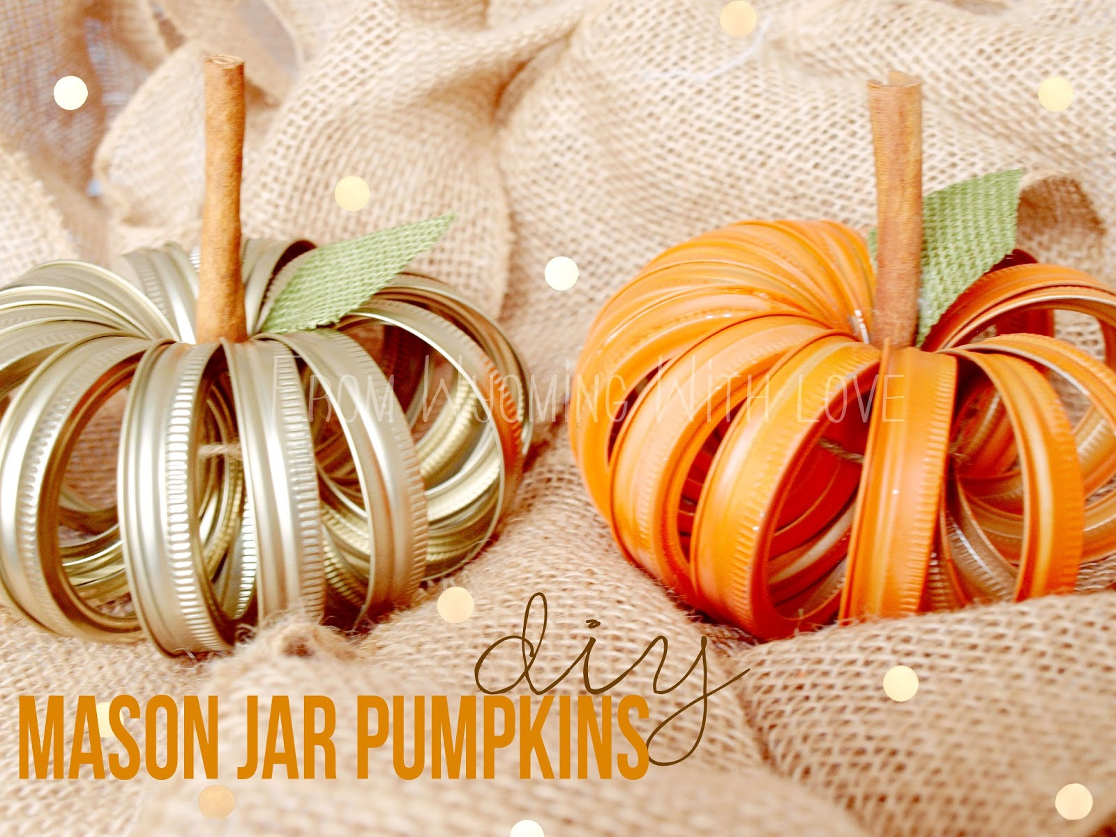 Diy Mason Jar Lid Pumpkin