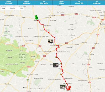 Tour de Rêves Day One route