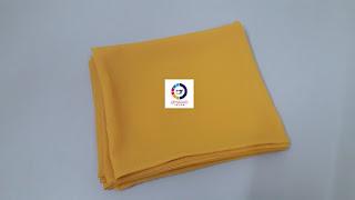 Shawl by Qiya Saad, bisnes shawl, jual shawl, kain shiffon, harga shawl, supplier shawl klang dan shah alam, shawl color kuning, shawl labuh, qiya saad tailor, jahit tudung,