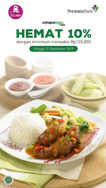 #Solaria - #Promo Makan Hemat 10% Min Transaksi 125K Pakai Permata Bank (s.d 31 Des 2019)