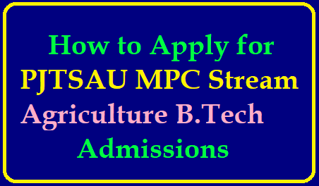 How to Apply for PJTSAU MPC Stream Agriculture B.Tech Degree Courses Admissions 2019 How to Apply for PJTSAU MPC Stream Agriculture B.Tech Degree Courses Admissions 2019 : /2019/06/how-to-apply-for-pjtsau-mpc-stream-agriculture-btech-degree-courses-admissions-pjtsau.fdstech.solutions.html