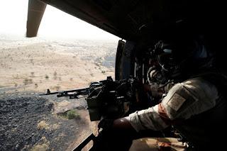 Operation Barkhane; a French Army Super Puma door gunner