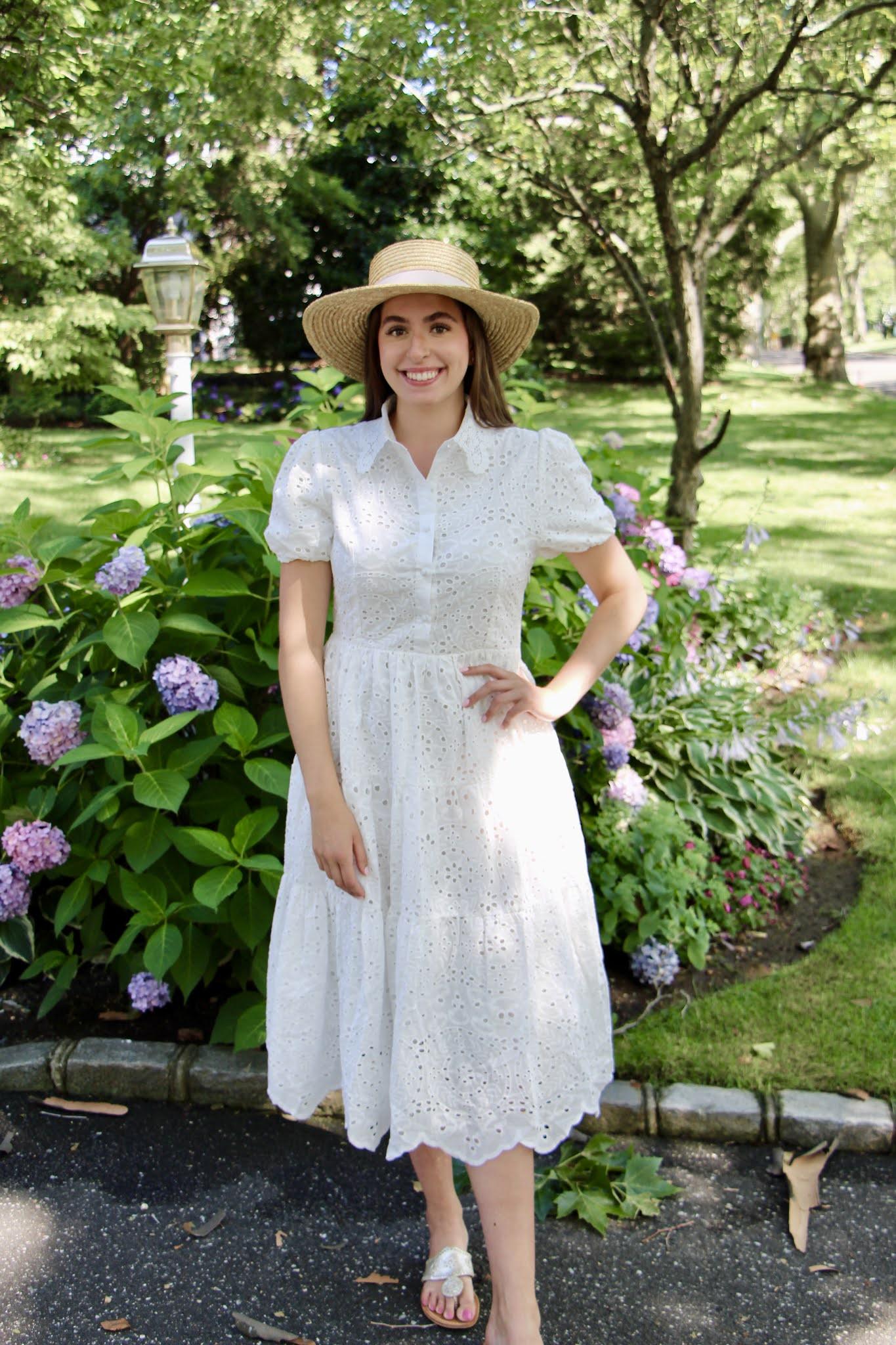maxi dress, summer dress, straw hat, lace dress, long island, summer, chicwish