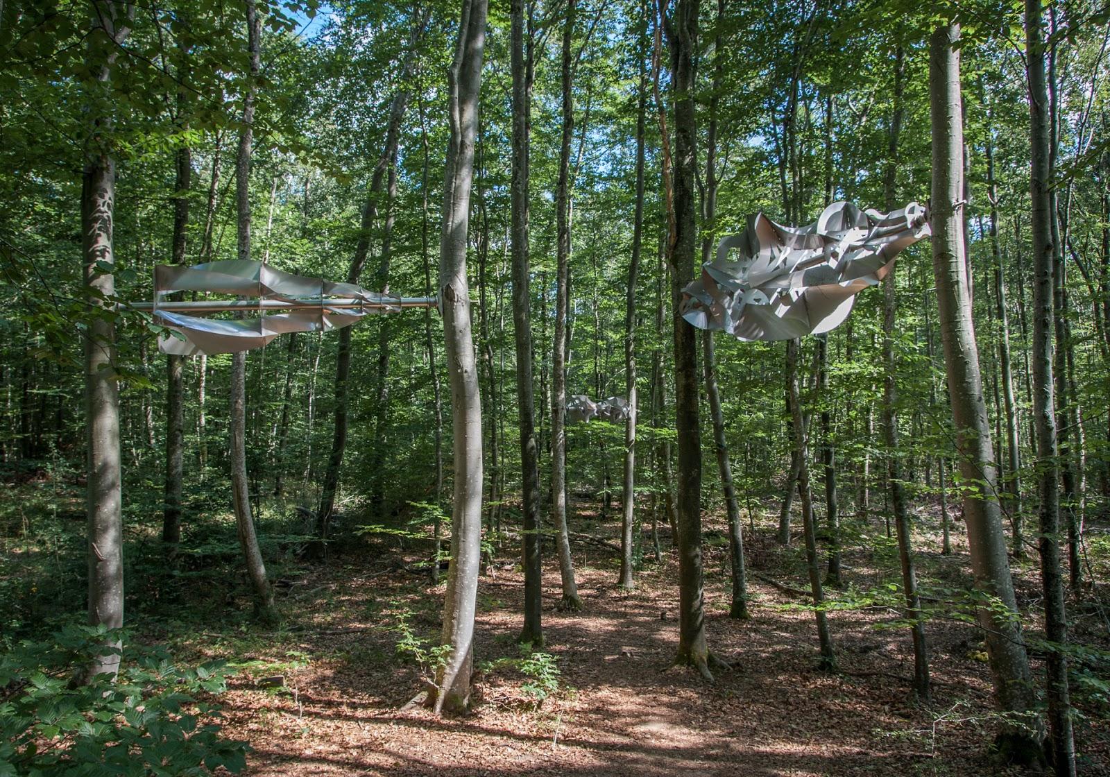 Le vent des forêts, un sentier artistique en pleine nature