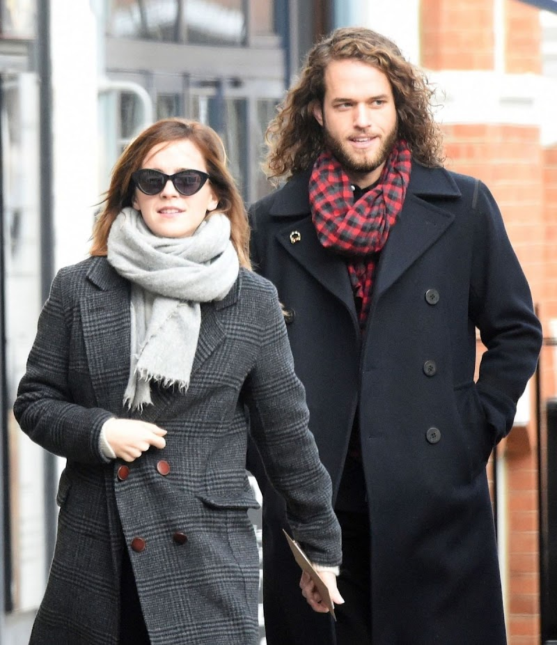 Emma Watson Clicked Outside with Her Boyfriend in London 18 Dec-2019