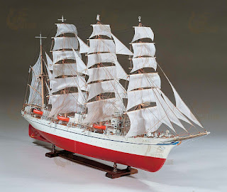 Modello completo del kit giapponese di nave di legno a vela Nippon Maru