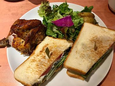 ファーマーズチキンのサンドイッチとクオーターチキンのセット
