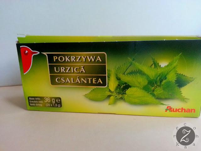 Herbata pokrzywa z Auchan