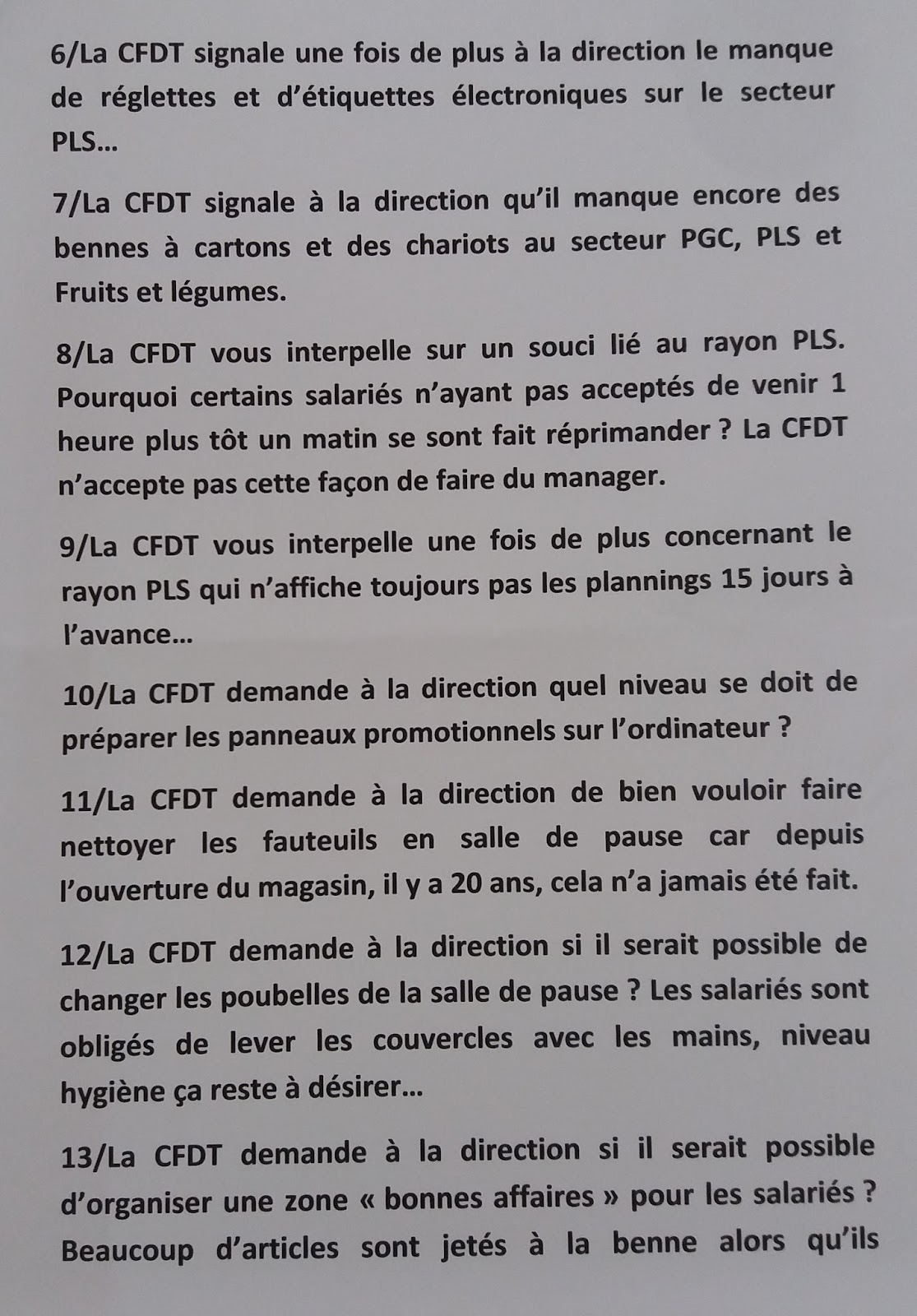 Cfdt Carrefour Begles Questions D P