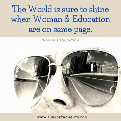 Woman Education Quote - MeenalSonal