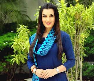 Shiny Doshi In Blue Salwar Suit