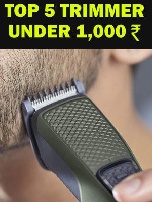 Top 5 Trimmer for Men under 1,000 rupees