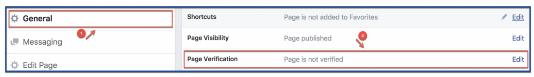 Verify Facebook Fan Page