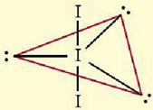 bentuk ion I3