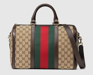 Gucci bag in vintage design featuring the interlocking G logo