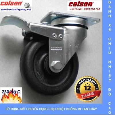 Bánh xe chịu nhiệt, bánh xe lò sấy, bánh xe lò hấp, bánh xe Colson www.banhxepu.net