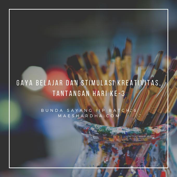 Gaya Belajar dan Stimulasi Kreativitas, Tantangan Hari Ke-3