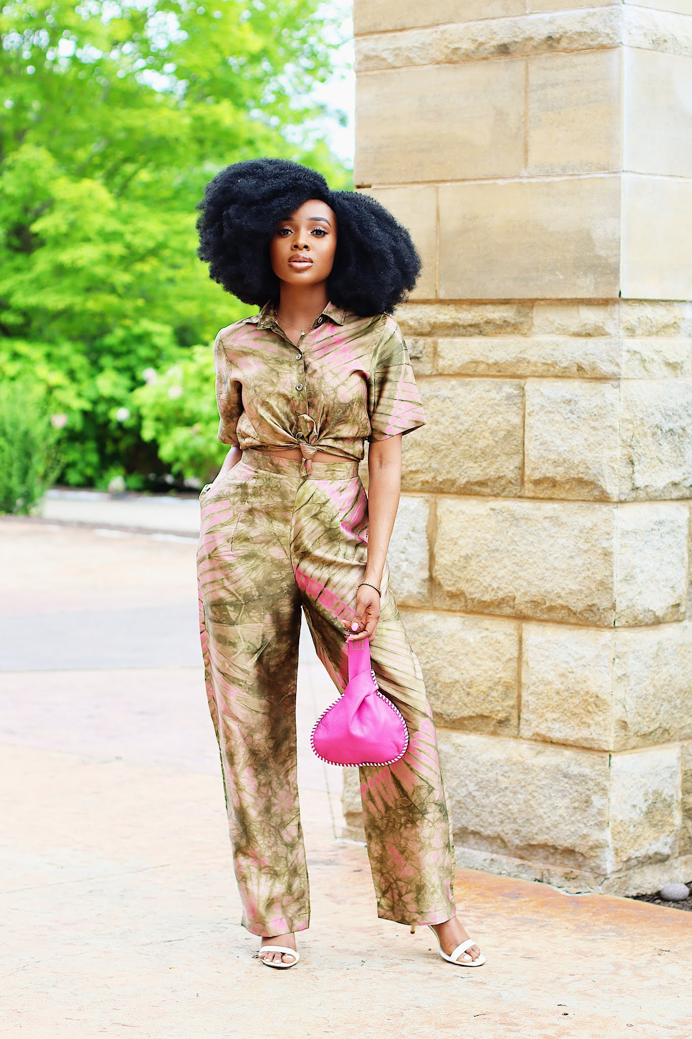 Adire Silk outfit