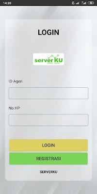 cara daftar serverku lewat aplikasi
