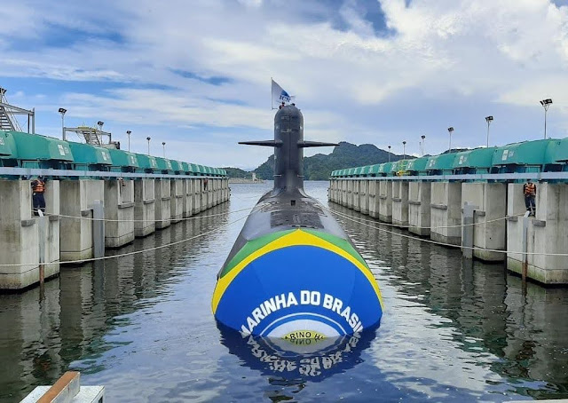 Botaron el segundo submarino Scorpene BR - Humaitá