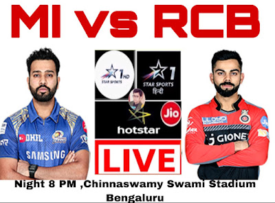 Mumbai  Indians vs Royal Challengers Bangalore , match preview 2019 ipl