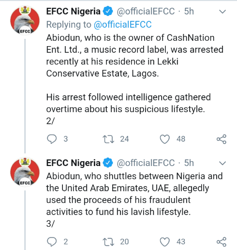 """Record label owner """"Kashy"""", Arrested by EFCC #Arewapublisize"""