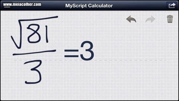 aplicativo de engenharia MyScript Calculator
