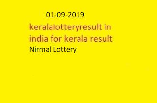 nirmal lottery sthree sakthi lottery results 01-09-2019