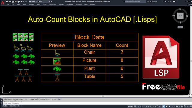 Auto-Count Blocks in AutoCAD [.LISP]
