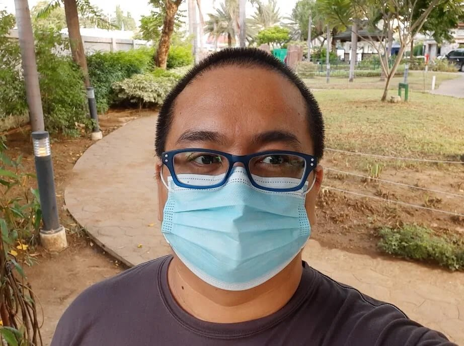 Samsung Galaxy M31 Camera Sample - Selfie with Mask, Normal