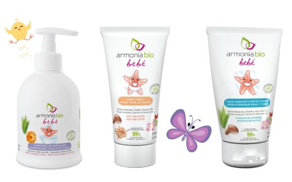 productos cosméticos para el cuidado del bebé