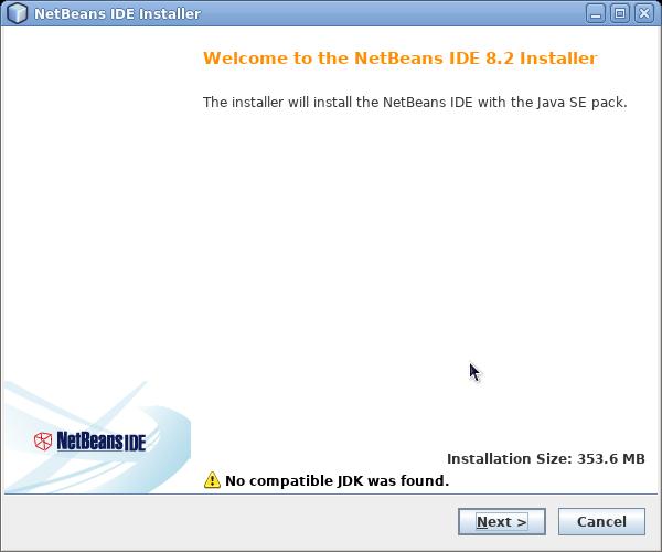 netbeans con error no compatible jdk was found
