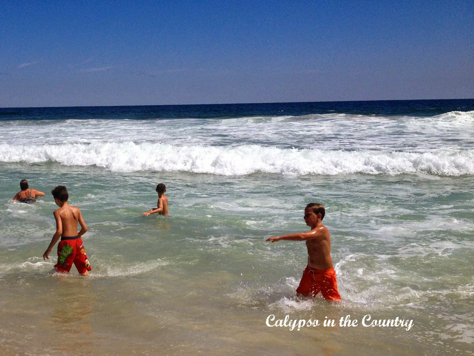 Body surfing at the Jersey Shore Labor Day Weekend