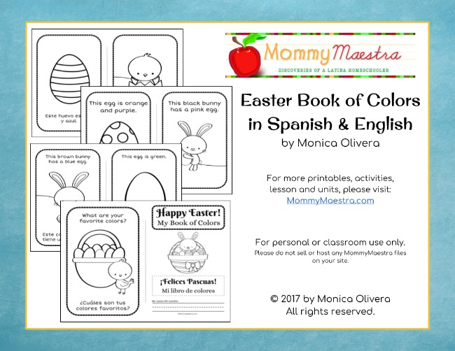 Bilingual Easter Book of Colors