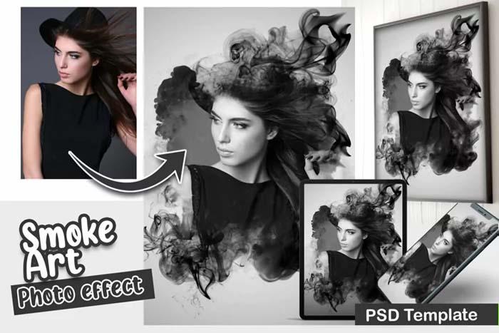 Smoke Art PSD Photo Template